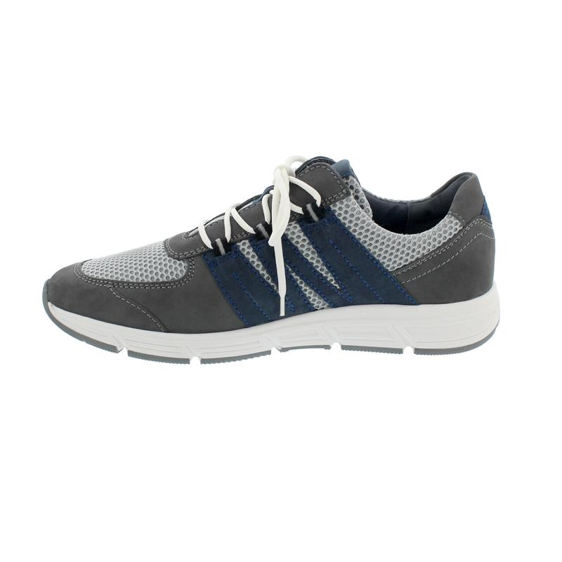 Waldläufer Haslo Halbschuh, Denver / Sportnet / Denver,  basalt grau jeans, Weite H 323004-409-247