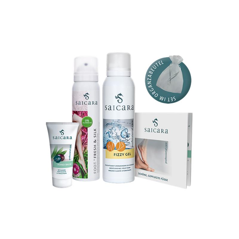 Saicara Fresh & Go-SET, Erfrischung für Füße und  Körper, 3 Produkte