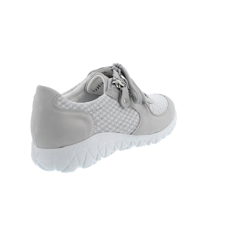 Waldläufer Havy-Soft, Sneaker, Nubukleder / Strick kombi., cement, Weite H H89001-208-013
