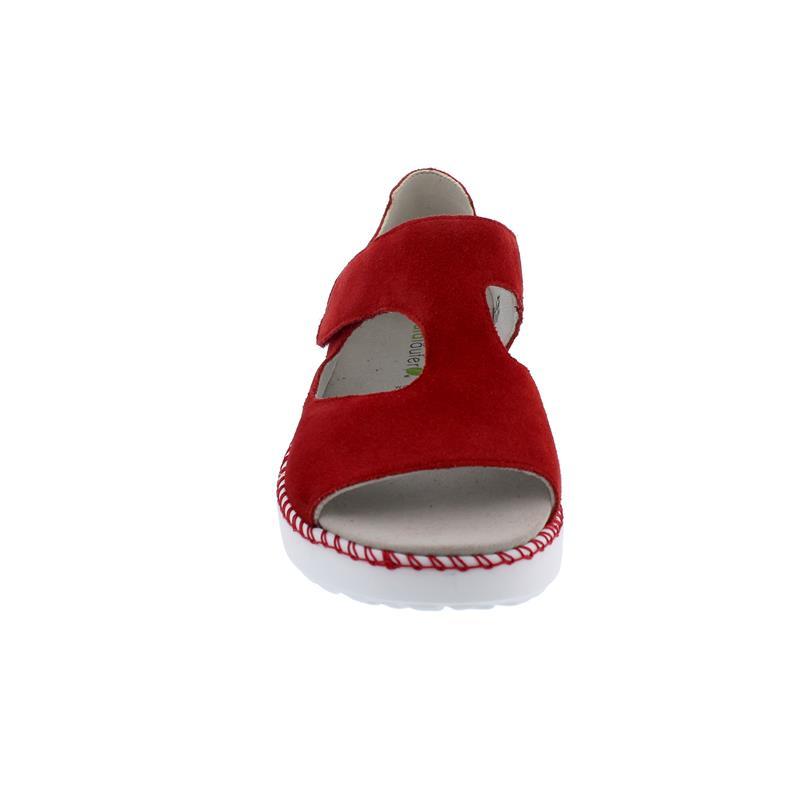 Waldläufer H-Vera Sandale, Order (Velour-Leder), rot, Weite H, Klettverschluss 731802-195-022