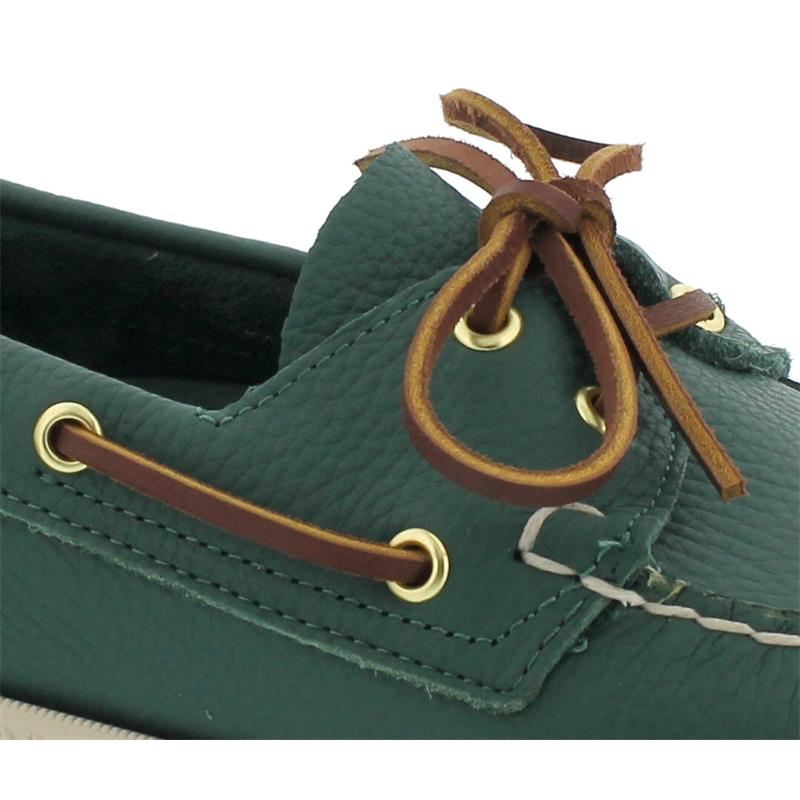 Sebago Docksides, Tumbled Leather, Green Forest / Brown, Men 771111W-A54