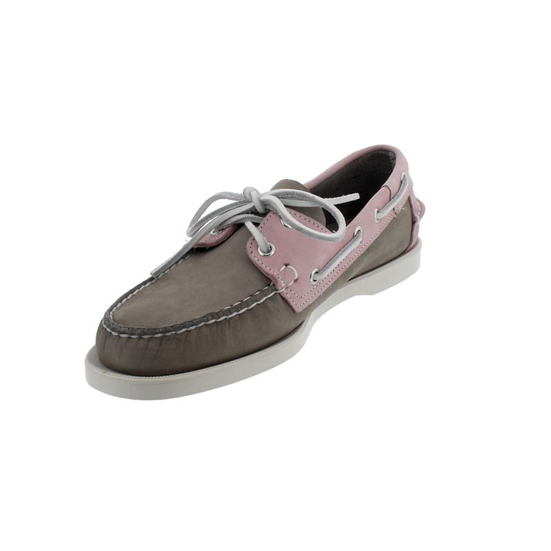 Sebago Docksides, Archive Nubuck, Mid Grey / Pink, Men 7111PSW-A50