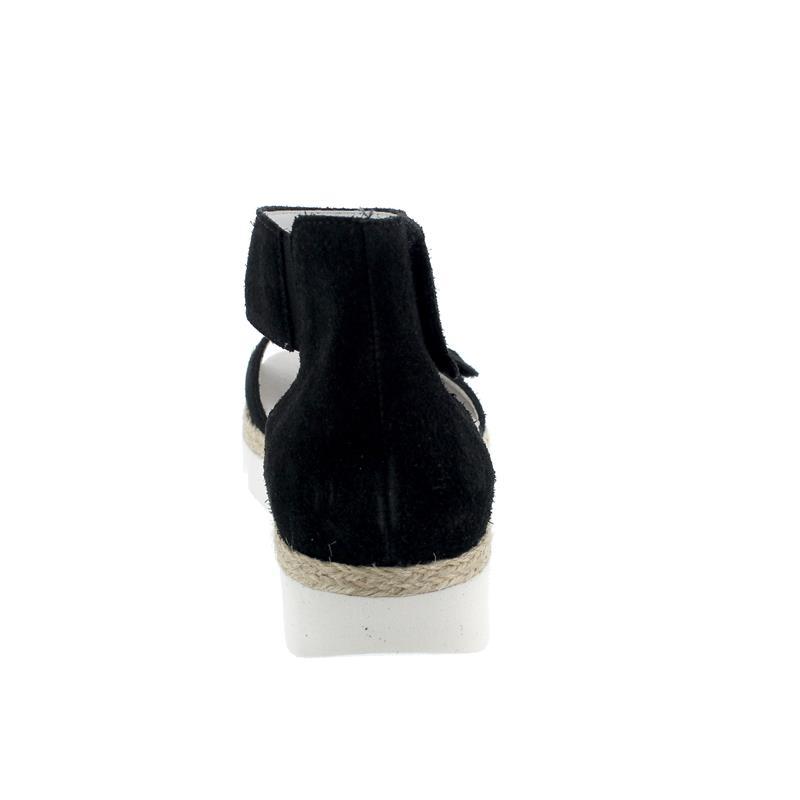 Waldläufer H-Sissy Sandale, Velour, schwarz, Weite H, 770802-130-001