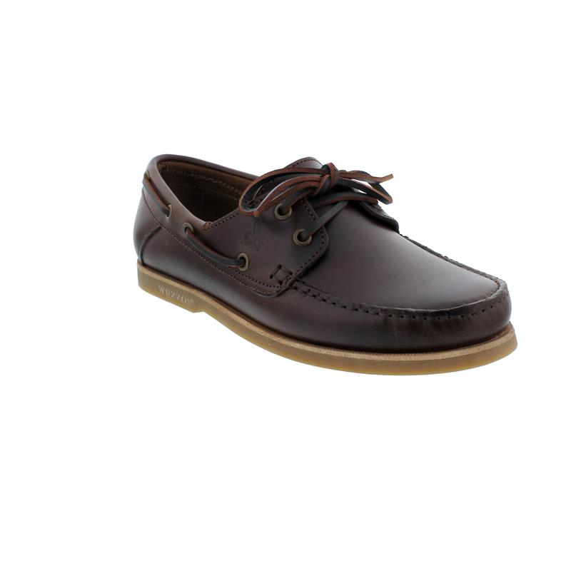 Wuzzos Branklet Boat Shoe, Glattleder, Dark Brown, Men WZ-MSF001