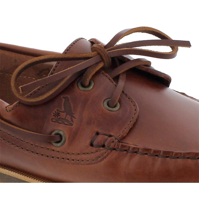 Wuzzos Branklet Deck Shoe Glattleder, Cognac Men MSF001