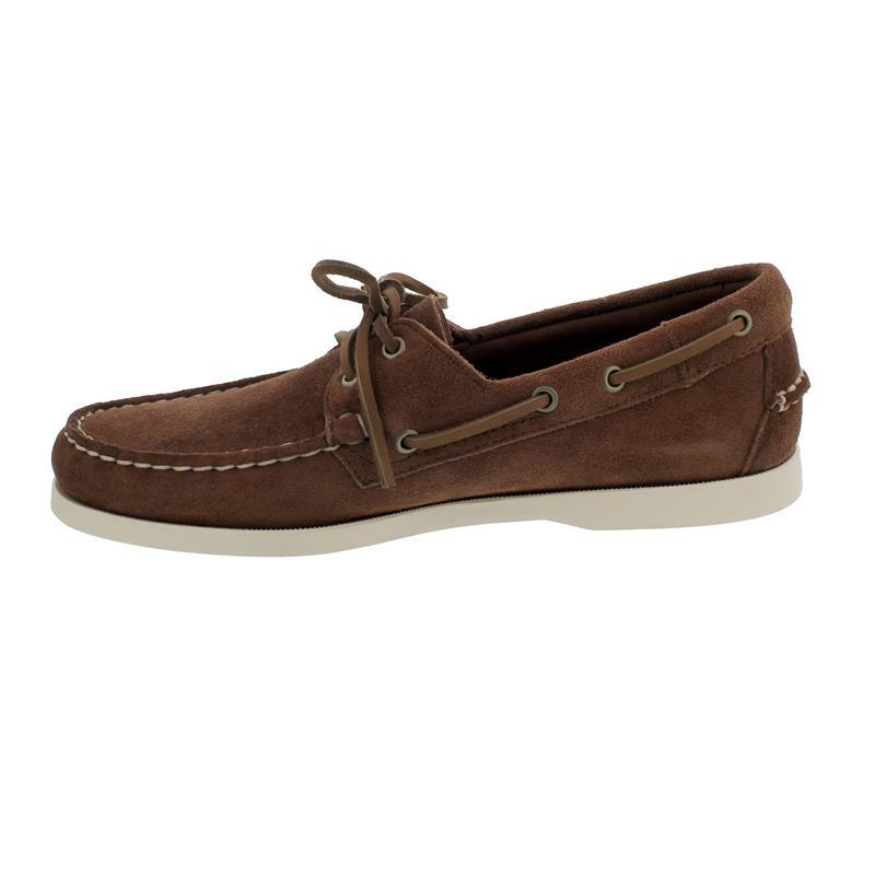 Sebago Docksides, Velour Leather, dk. brown-brown dk., Men 7111PTW-901