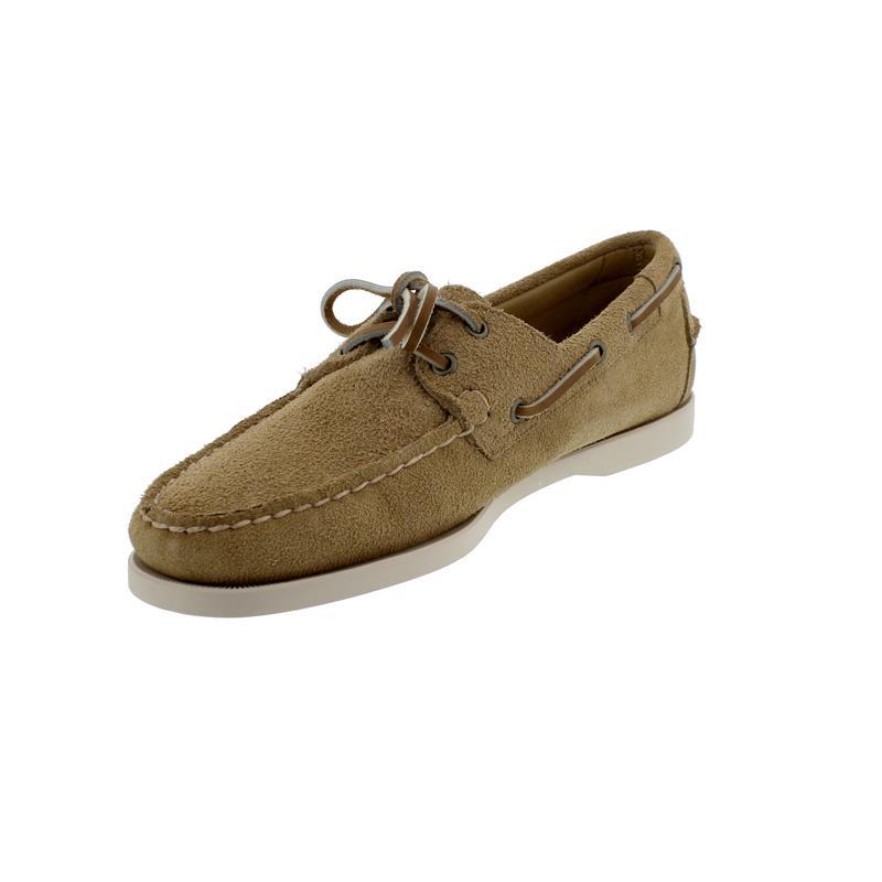 Sebago Docksides, Velour Leather Flesh out, beige camel, Men 7111PTW-906