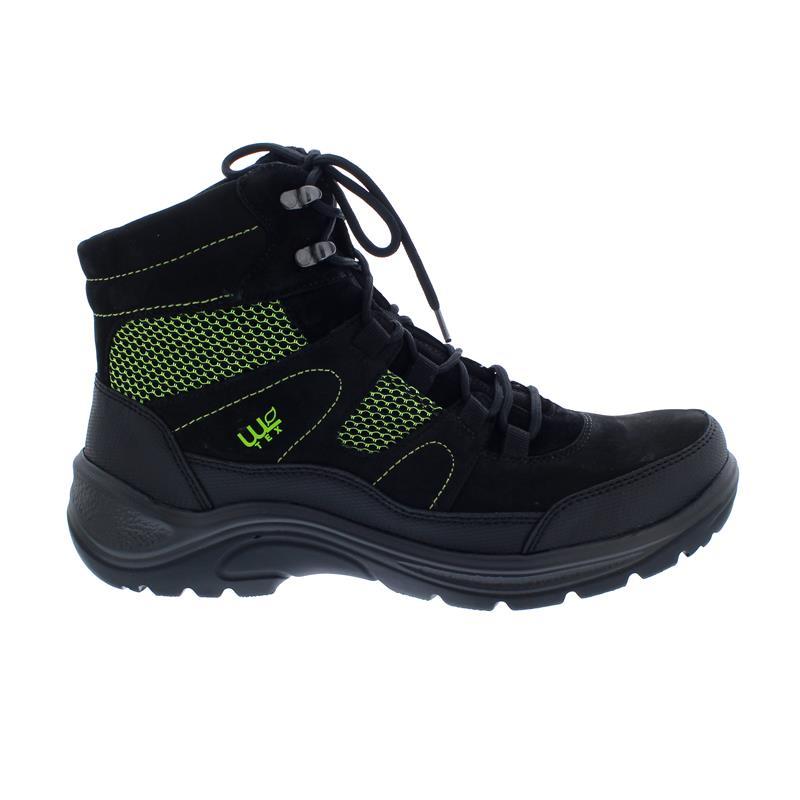 Waldläufer Hayo Bootie, Waldläufer-Tex, Gummi / Nubukleder, schwarz/fichte, Weite H 415972-501-673