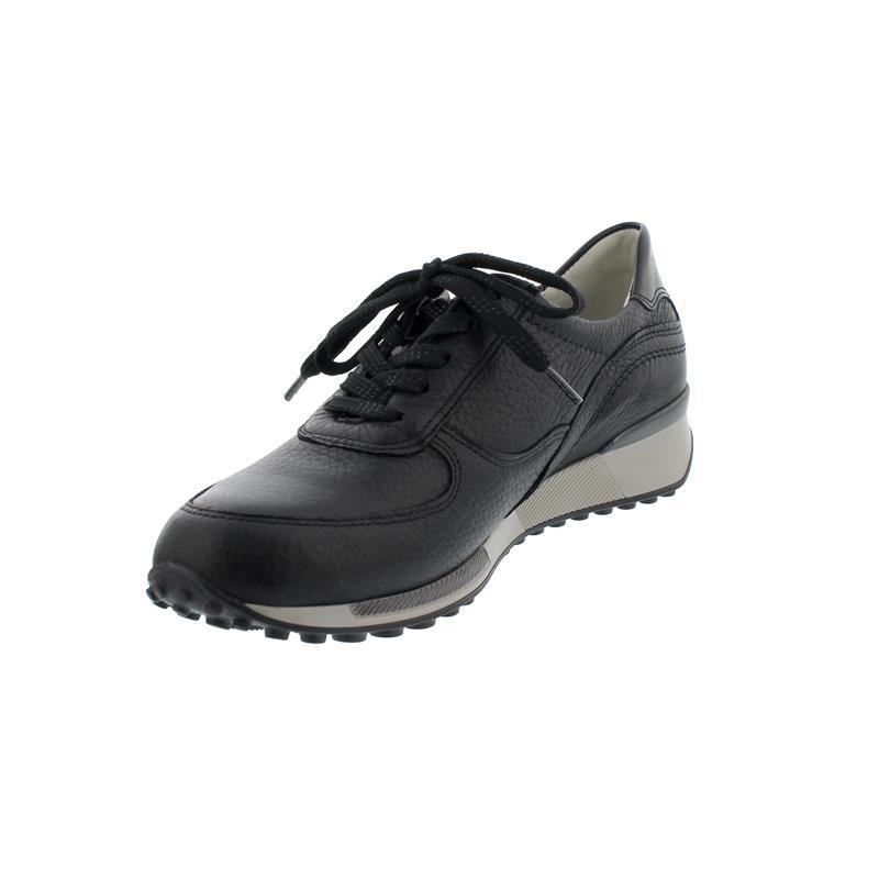Waldläufer H-Jule, Sneaker, Hirschleder Taipei, schwarz, Weite H 776006-299-001