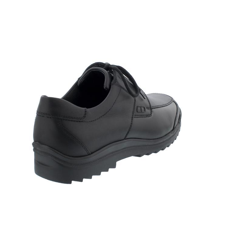 Waldläufer Kai-Soft Halbschuh, Palmer (Glattleder) / Stretch, schwarz, Extraweite K K13002-200-001
