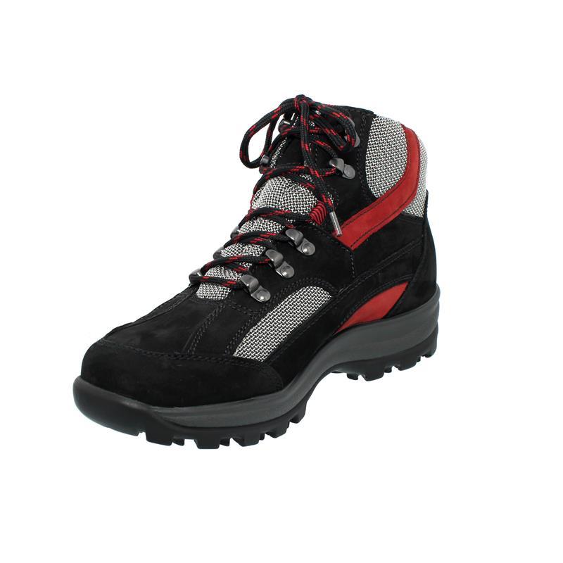 Waldläufer Holly Bootie, Waldläufer-Tex, Denver/Torrix, schwarz/rubin/silber, Weite H 471900-452-583