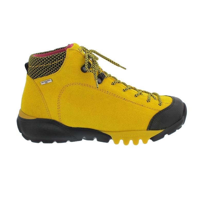 Waldläufer H-Amiata Bootie, Gummi Velour-F. Sport Net, gelb, Weite H 787970-300-220