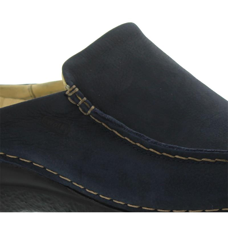 Wolky Seamy-Slide, Clog, Antique nubuck, Blue 0625011-802