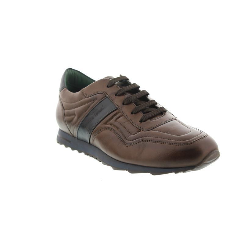 Galizio Torresi Sneaker, Glattleder, Blue / Testa di Moro 310466 A