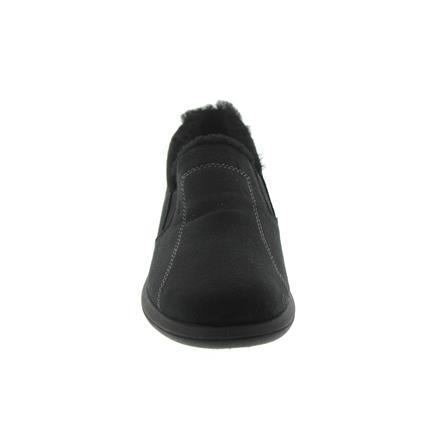 schwarz Weite F1//2 Rohde Farun Damen-Pantolette Lammfellfutter Microvelour