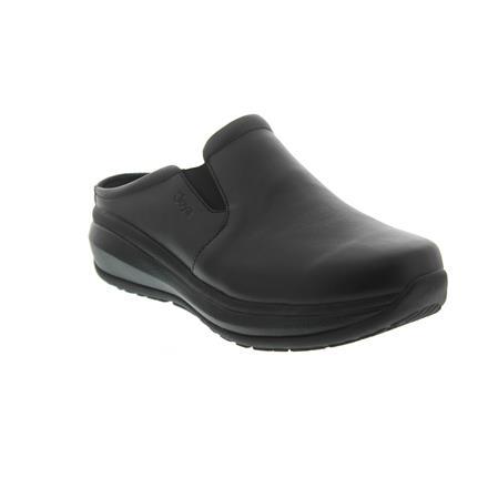 Clog 752cas Joya Cabrio II W Black Full-Grain Leather // Textile Emotion-Sohle