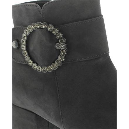 Micro Best-Fitting Velvet Chevreau Wide F Dark-Grey Gabor Ankle Boots
