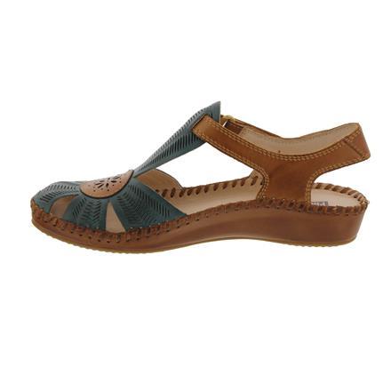 Pikolinos Damen Schuhe Sandale Sandalette Pantolette 655-0698 Nata weiß Leder
