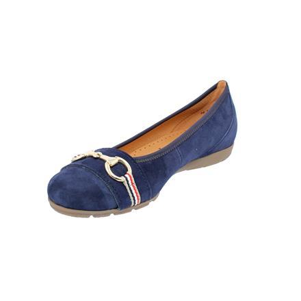 GABOR Ballerinas blau Samtchevreau Bluette