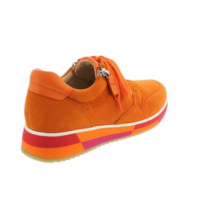 Details zu Gabor Sneaker, Samtchev. Sportylamm, orange, Wechselfußbett 43.390.13