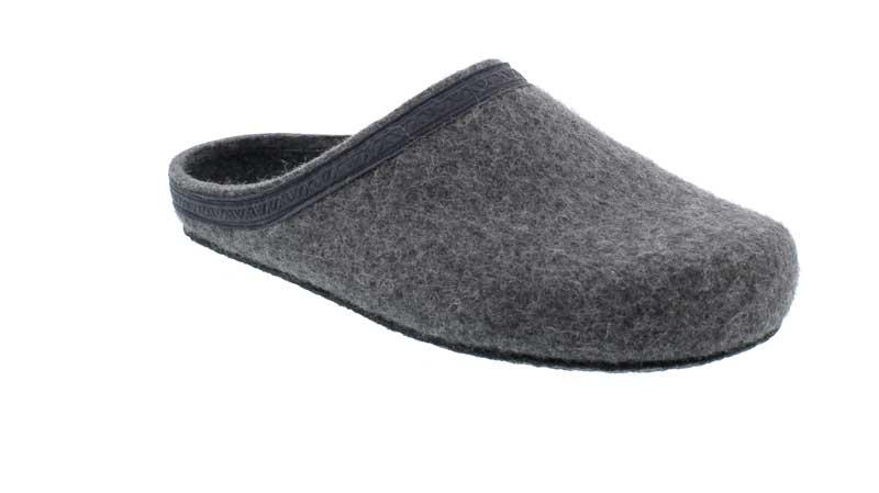 Stegmann Pantolette in grey aus Merinowolle