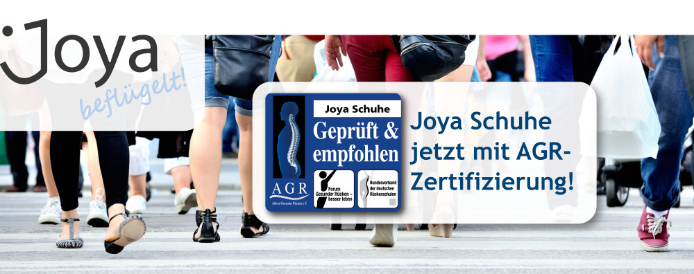 Joya beflügelt - Joya Schuhe jetzt mit AGR-Zertifizierung!