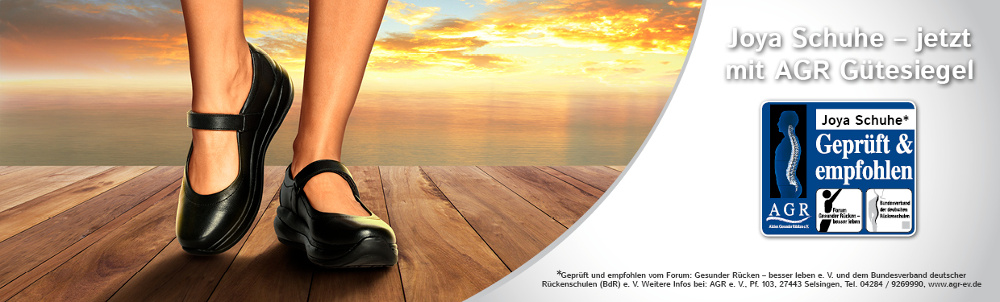 Joya Schuhe - jetzt mit AGR Gütesiegel